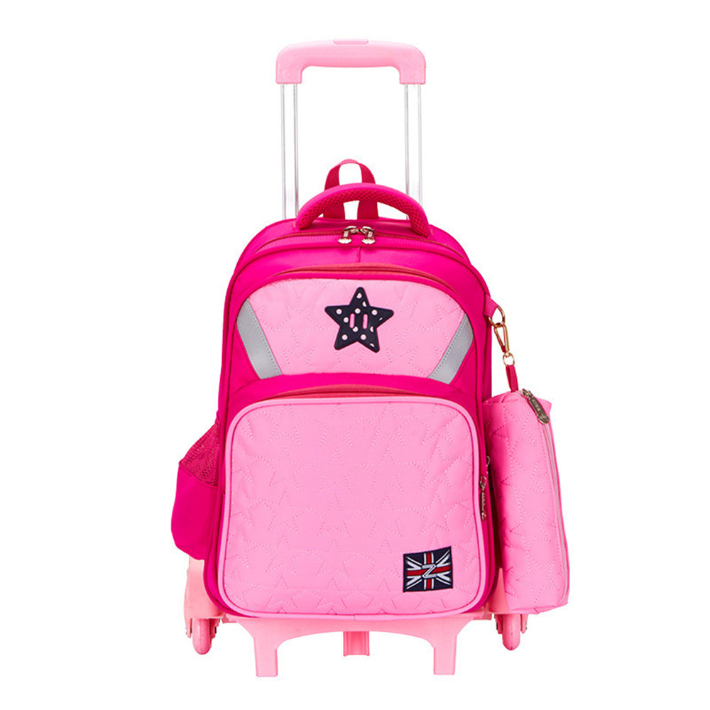 Children Trolley Backpack For Girls Boys Fashion wheeled School Bag Detachable Backpack Rolling mochilas цена 2017
