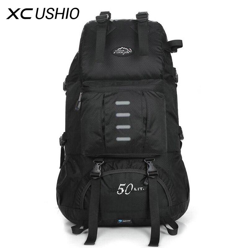 Outdoor Mountaineering Bag Professional Sport Hiking Backpack Waterproof Trekking Climbing Bag 50L for Men Women Travel Trekking