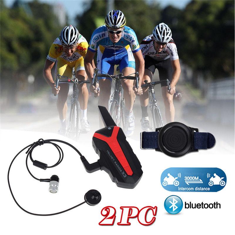 2 раза по Bluetooth велосипедный шлем 1.5-3км Группа Интерком-Гарнитура портативной рации Х3 плюс