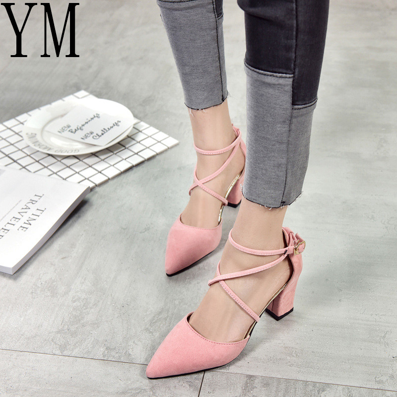 Hot Gladiator Sandals Women Shoes Sexy Pointed Toe Pumps Womens Green Ladies Shoe Zapatos Mujer High Heels Wedding Plus Size 40 стоимость