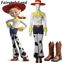 Toy Story Jessie Cosplay Costume Halloween Costume Cowgirl Costume suit Jessie Costume Boots Custom Made - DISCOUNT ITEM  37% OFF All Category