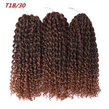 Amir  8-12 inch 3pcs/set  Marly braids Synthetic CrocHet Braids  purple pink Malibob Marly Braid ombre braiding hair extentions