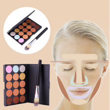 New 15 Colors Contour Face Cream Makeup Party Concealer Palette + Brush Hot Selling