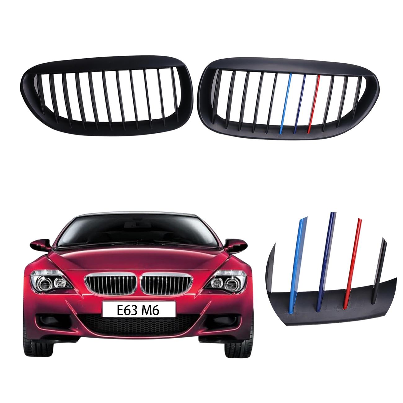 Car Kidney Shape Grill Front Grille For BMW M6 E63 E64 645i 650i Convertible Coupe 2004 2010 Matte Black M Color .# CASE
