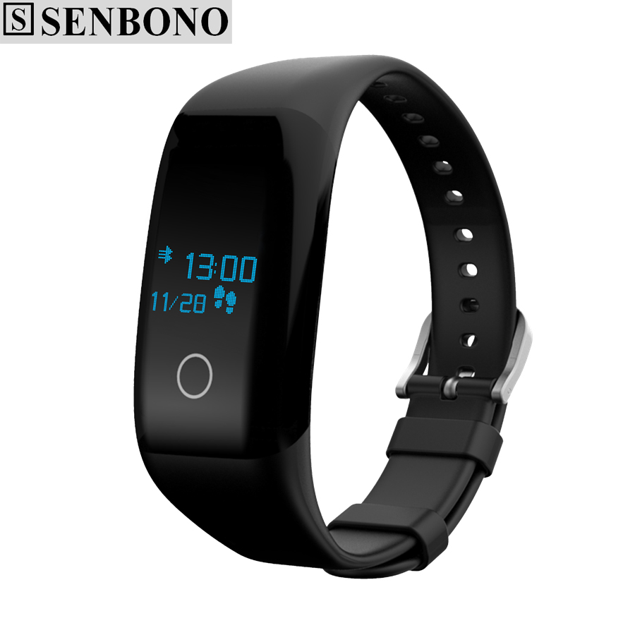 imágenes para SENBONO X11 bluetooth 4.0 IP68 impermeable inteligente muñequera sport band pulsera heart rate monitor de sueño llamada recuerdan SMS empujado