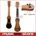 Maple Wood Mini electric Ukulele Peanut shape with MP3 in and earphone out electric UK guitar