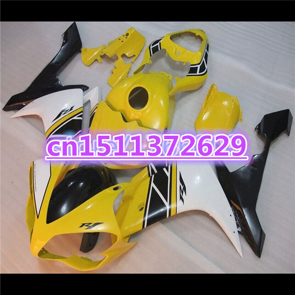 Bo YZF <font><b>R1</b></font> 07 08 <font><b>Fairings</b></font> for YZF-<font><b>R1</b></font> 07-08 yellow white black YZF1000 <font><b>R1</b></font> 07 08 <font><b>fairing</b></font> kits YZF <font><b>R1</b></font> <font><b>2007</b></font> 2008 image