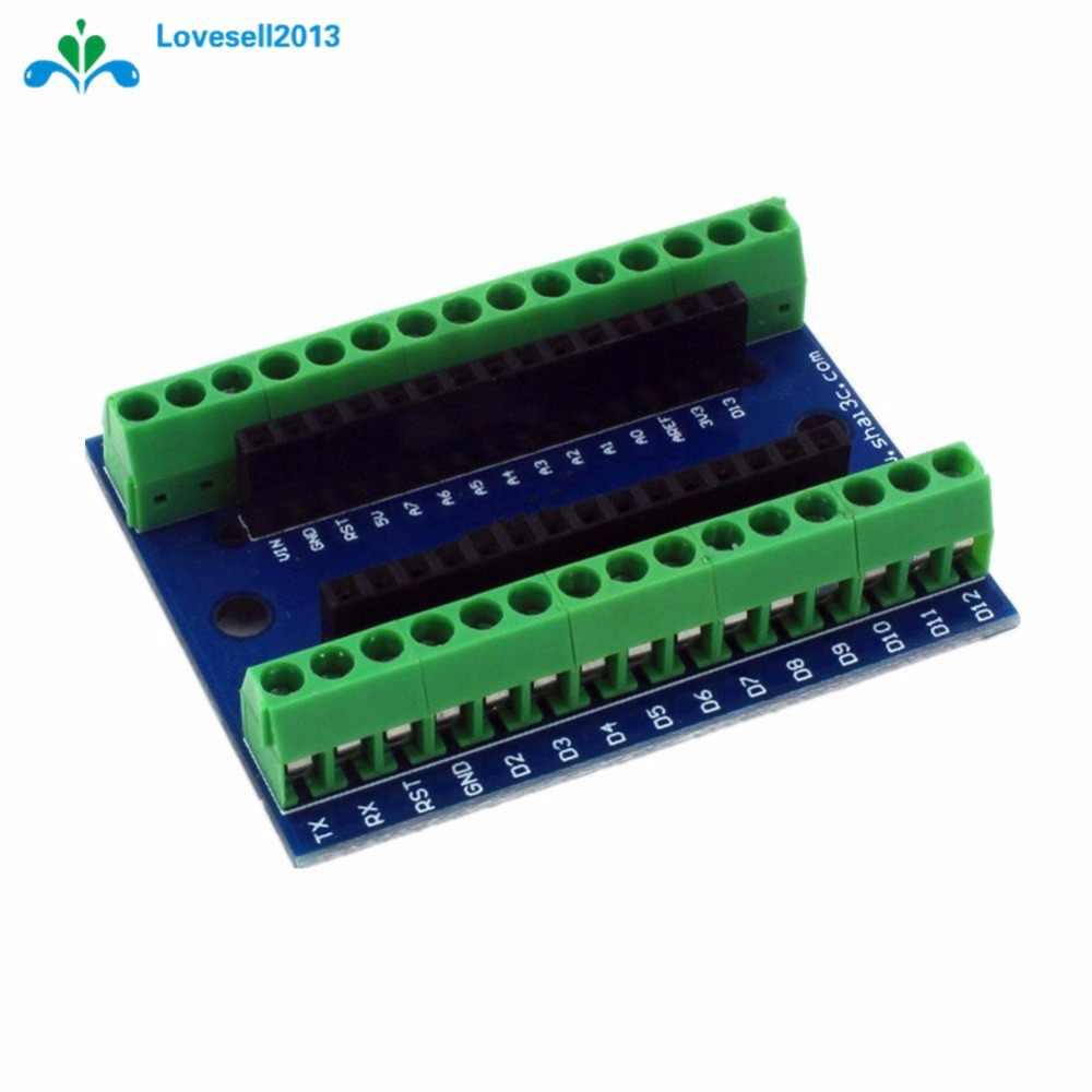 1 шт. Стандартный терминальный адаптер доска для Arduino Nano V3.0 AVR ATMEGA328P ATMEGA328P-AU модуль 100% происхождения Бесплатная доставка