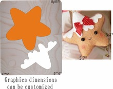 Five-pointed star Wooden die New Compatible MY     The details are size mold, graphic size, недорго, оригинальная цена
