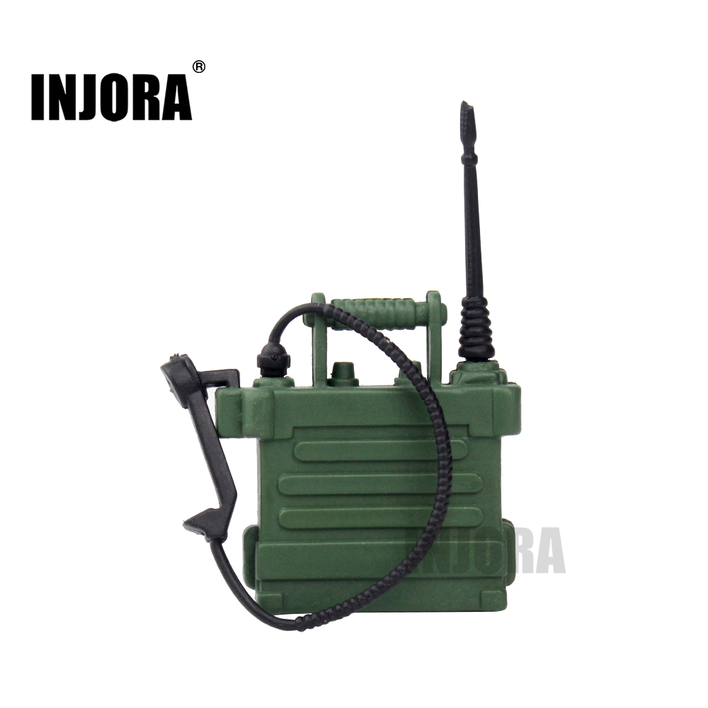 INJORA 1/10 Scale Radio Station Phone For 1:10 RC Crawler Axial SCX10 90046 D90 D110 TF2 Traxxas TRX-4