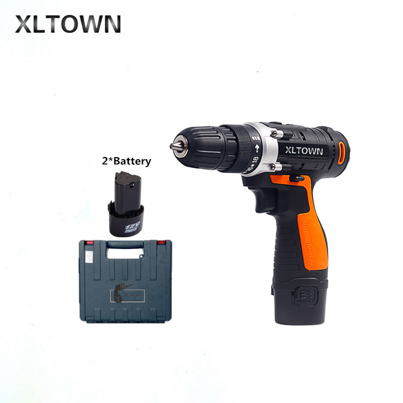 XLTOWN 12v cordless electric drill with 2 battery a plastic box lithium battery rechargeable electric screwdriver power tools original yinhe defensive 980 table tennis blade with 61second ds lst and lm st rubbers sponge a racket shakehand long handle fl