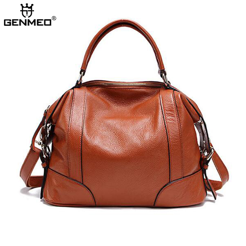 New Arrival Genuine Leather Handbag Women Cow Leather Shoulder Bags Sexy Ladies Real Leather Messenger Bag Female Tote Bags цена и фото