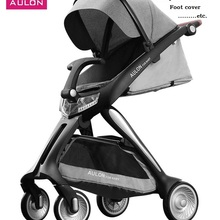 Aulon новая коляска высокого ландшафта детская коляска Роскошная складная Коляска