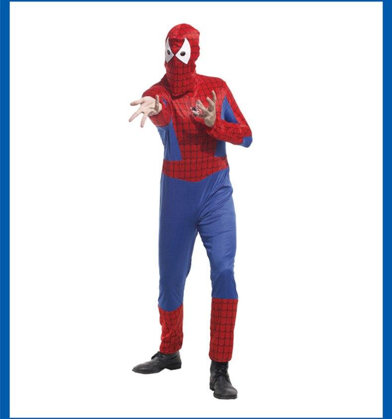 Halloween Red Spiderman Costume Spider Man Suit Spider-man Costumes Adults  Spider-Man Cosplay Clothing