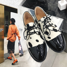 INS hot women shoes Genuine Leather Plus size 22-26.5 cm length pumps Cowhide horse hair stitching ladies Loafers