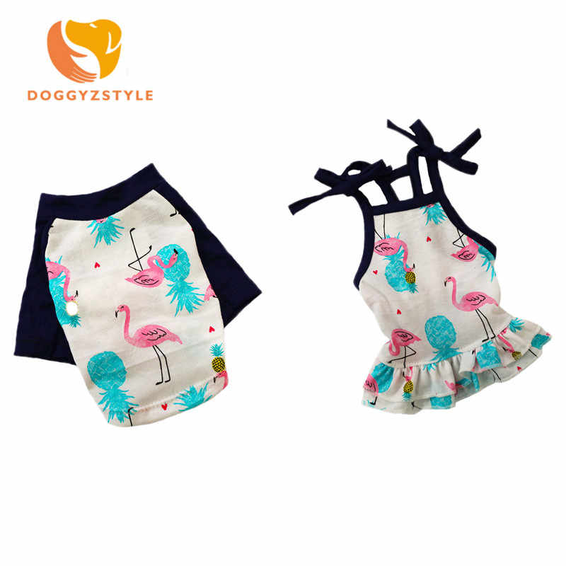 DOGGYZSTYLE Pets Dog Clothes Summer T Shirt Small Dog Cat Pet Vest Shirt Clothes Dogs Pets Clothing Skirt For Puupy Chihuahua