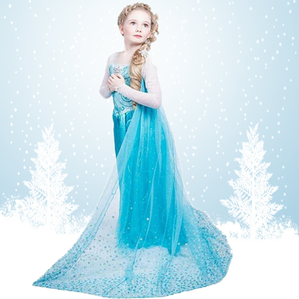 Carnival Elsa Dress Snow Queen Costumes Elegant Festive Dresses for Girls Cinderella Long Sleeve Anna Princess Dress Winter Hot artdeco точилка для карандашей magic liner