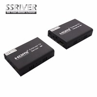 SSRIVER 100M HDMI Extender Over Single Cat5e Cat6 Support IR 3D Extend HDMI TCP IP