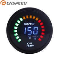 Free Shipping CNSPEED 2 inch 52mm Auto Oil Temp Gauge 20-150 Celsius Digital LED light Oil Temperature gauge Car meter