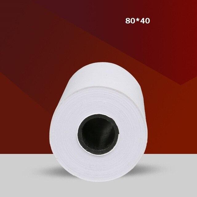 c871a8d55d580 Rollo de papel térmico 80mm x 40mm de papel de recibos pos supermercado  Caja Registradora rollos