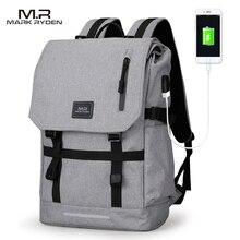 Mark Ryden Large Capacity 15 6 Inch Laptop Bag Man USB Design Backpack Bag Black Backpack