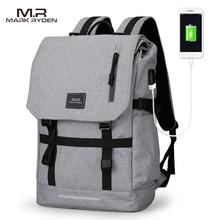 Водонепроницаемый большой Ёмкость 15.6 дюймов Сумка для ноутбука человек usb Дизайн рюкзак черный рюкзак женские школьные сумки Mochila Masculina