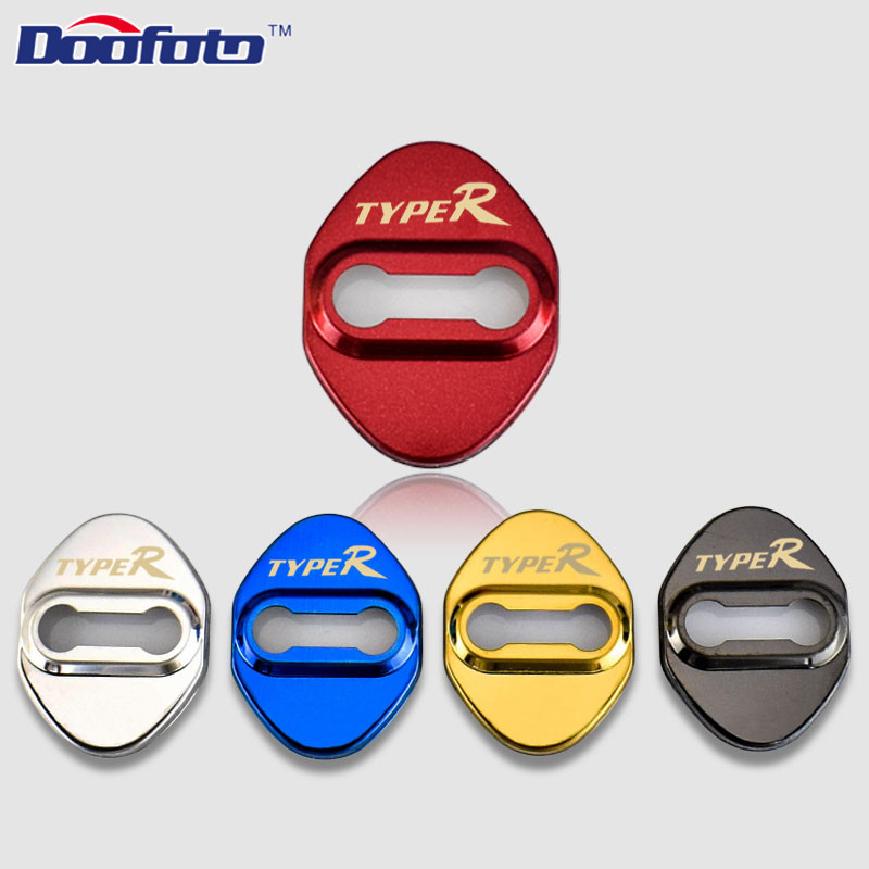 Doofoto Auto Door Lock Protection Cover Car Styling Case For Honda Type R Civic Typer Accord CR-V Accessories Car-Styling 4pcs