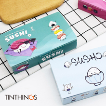 10/20PCS Sushi Box Packaging Fast Food Disposable Japan Rice Ball Paper Takeout Containers 170x105x35mm