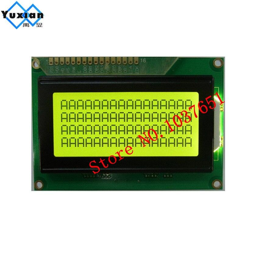 1 pz 1604 1604A 16x4 display lcd pannello giallo verde STN 5 v b1604A HD447801 pz 1604 1604A 16x4 display lcd pannello giallo verde STN 5 v b1604A HD44780
