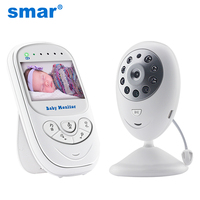 Smar 2.4 inch Audio Video Wireless Baby Monitor Security Camera Baby Nanny Music Intercom Night Vision Temperature Monitoring