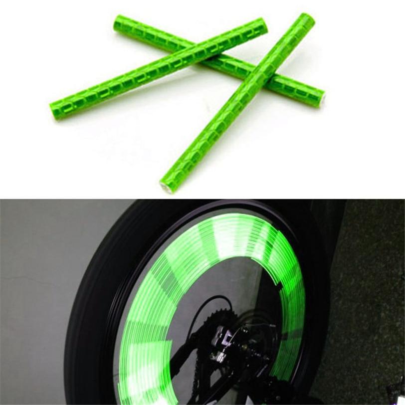 12pcs Cycling Wheel Spoke Reflector Bike Bicycle Reflective Mount Clip Tubes F6