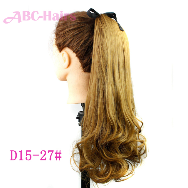 22inch Long Claw Clip Drawstring Ponytail Fake Hair Extensions Horse