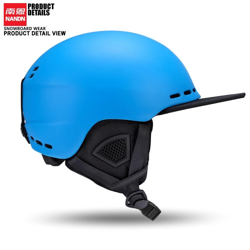 Nová helma NANDN Ski Ultralight a integrálně tvarovaná profesionální snowboardová přilba Muži kolečkových bruslí / skateboardů Multi Color213
