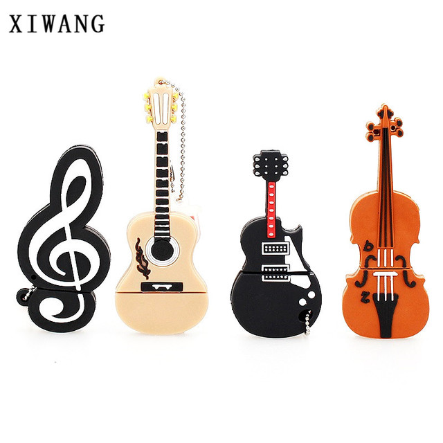 instrument series usb flash drive 128gb pen drive violin USB 2.0 4GB 8GB pendrive 16GB 32GB 64GB music memory stick holiday gift