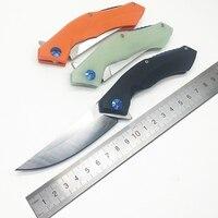 BMT Ganzo Blue Moon Tactical Ball Bearing Folding Knife D2 Blade Knife Steel Handle Outdoor Knives