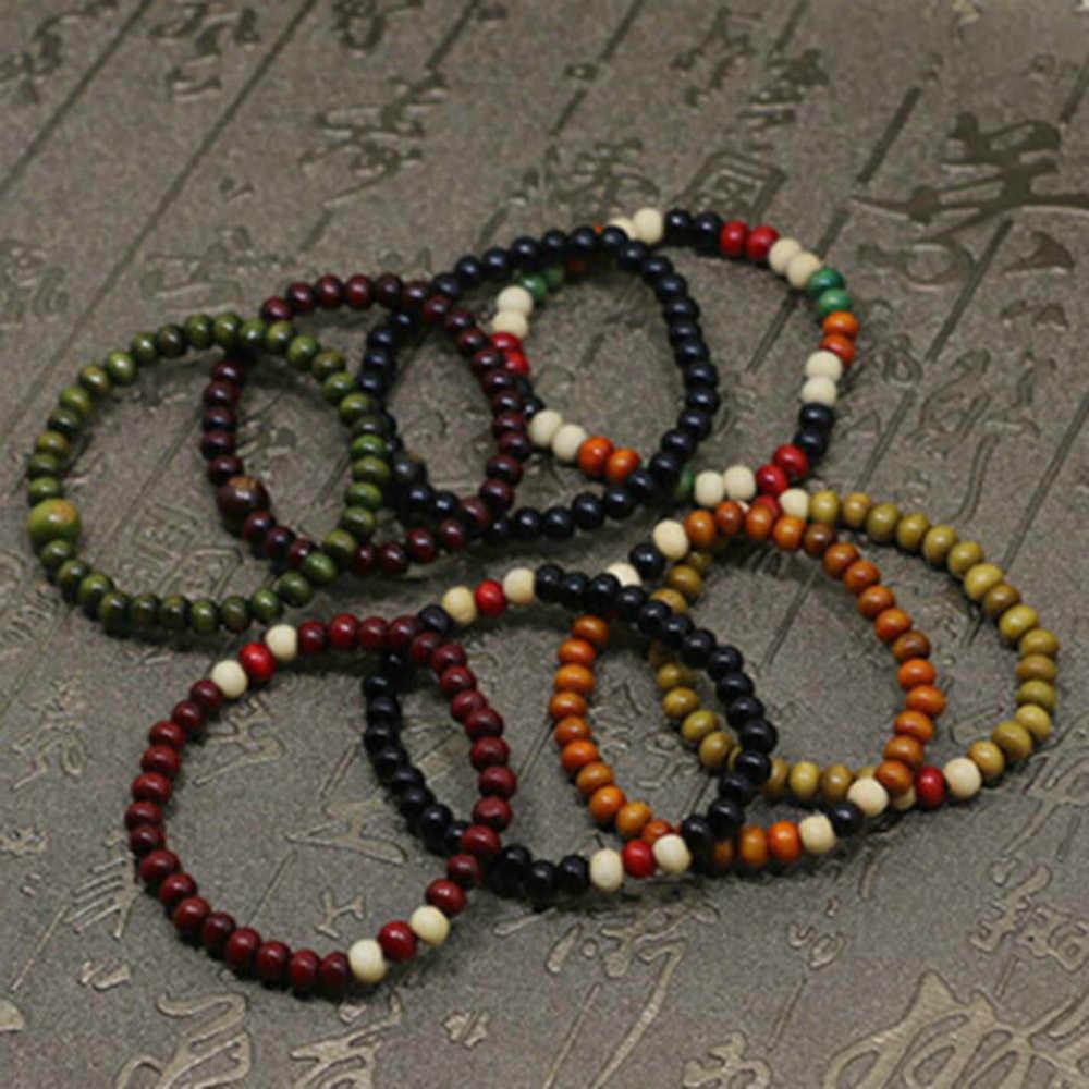 บุรุษสตรี Chakra Healing Reiki Prayer Lava หินสร้อยข้อมือจำนวนมากสไตล์