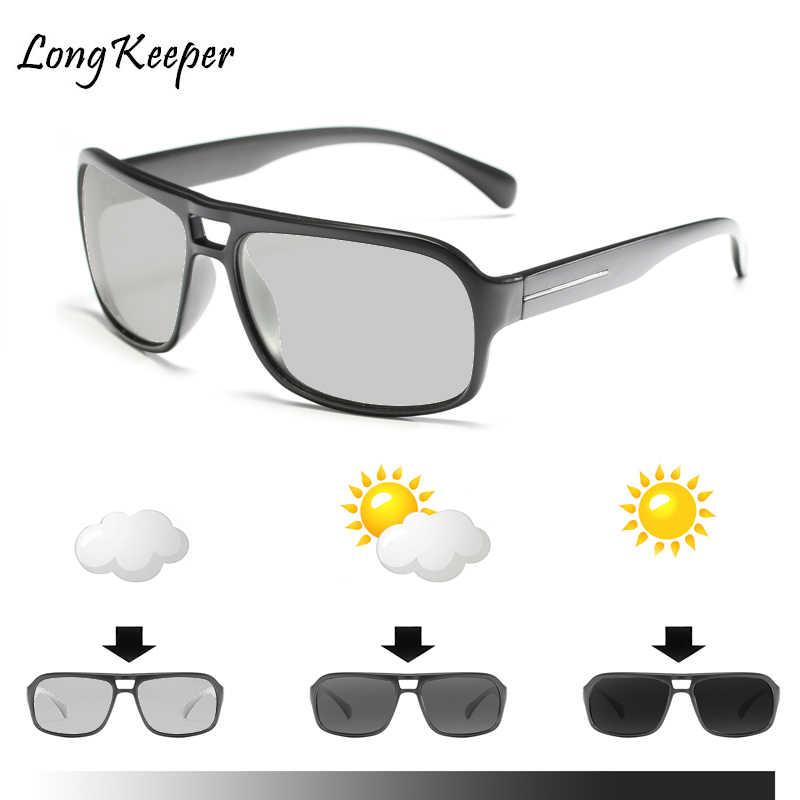 Поляризованные фотохромные солнцезащитные очки для вождения, мужские очки  хамелеон, женские солнцезащитные очки, новые очки Gafas de sol hombre 1022  на ... ac3c501394f