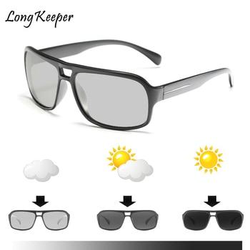 Long Keeper Sunglasses Polarized Photochromic Men Chameleon Driving Glasses Women Eyeglasses Eyewear Gafas de sol hombre Fashion