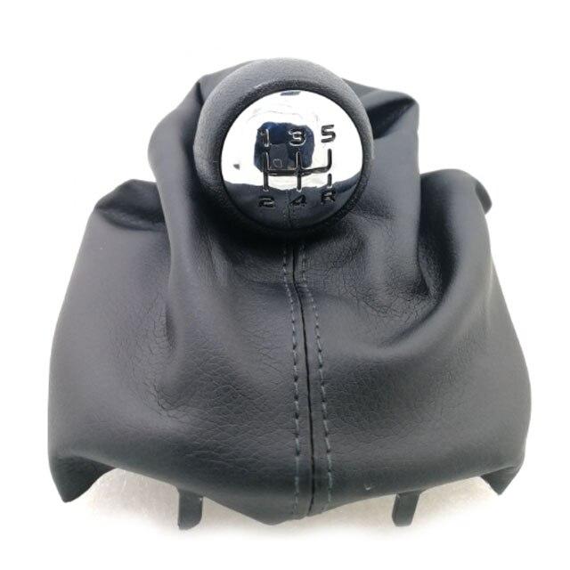цена 5 Speed PU Farbic handle lever Gear Shift Knob Stick For Citroen C2 C4 Picasso For Peugeot 206 306 307 308 3008 онлайн в 2017 году