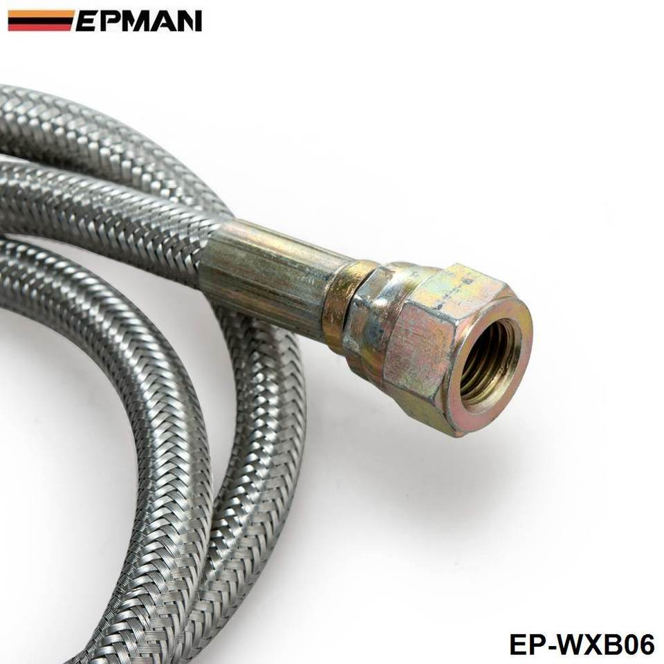 """36/"""" Braided 304 Stainless Turbo Charge 1//8 Npt Oil Feed Line for T3 T3//T4 T4"""