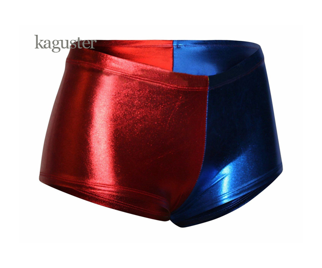 Harley Quinn Shorts Suicide Squad Metallic Cosplay Batman կոստյումների զգեստներ