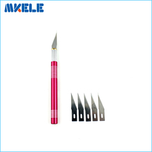 Carving Knife 5 Blades Wood Tools Craft Sculpture Engraving Scalpel DIY Cutting PCB Circuit Board Repair New Paper Cutter