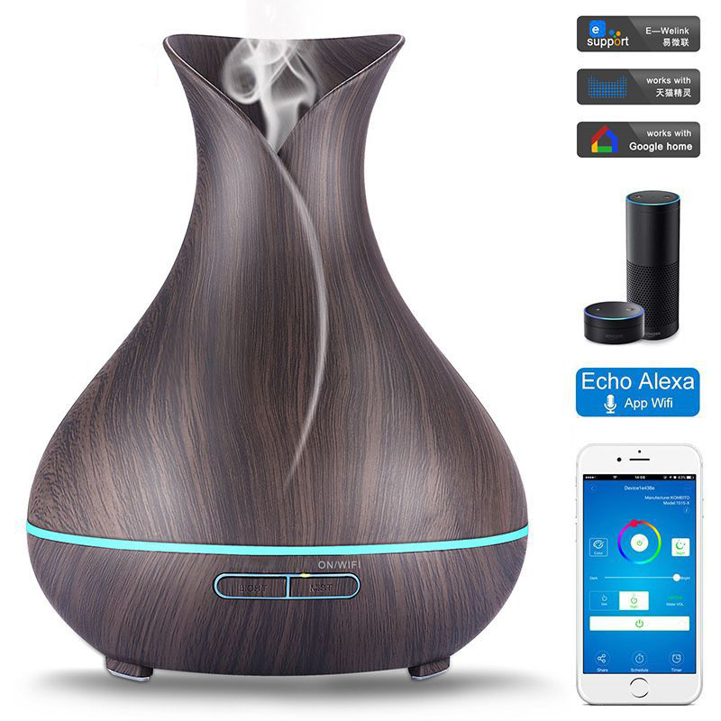цена Intelligent WiFi air humidifier Essential oils incense compatible Alexa and Google Home amazon Intelligent aromatherapy machine