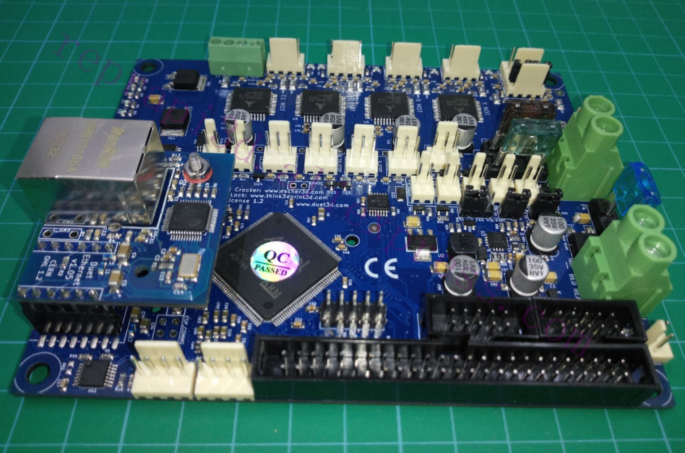 Latest V1 04 Duet 2 Ethernet Controller board 32 bit electronics board Duet  Ethernet Motherboard for 3D Printer and CNC machines