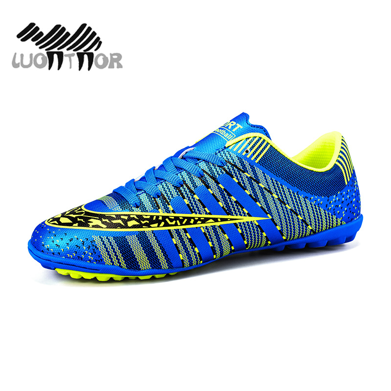 accc23a9c Men s Turf Soccer Shoes Indoor Plus Size 45 Cleats Kids Original Superfly  futsal Football Shoes Sneakers chaussure de foot Child