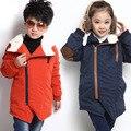 V-TREE moda das meninas dos meninos casaco de inverno engrossar crianças outerwear casaco com capuz roupas de algodão crianças jaquetas roupas de bebê