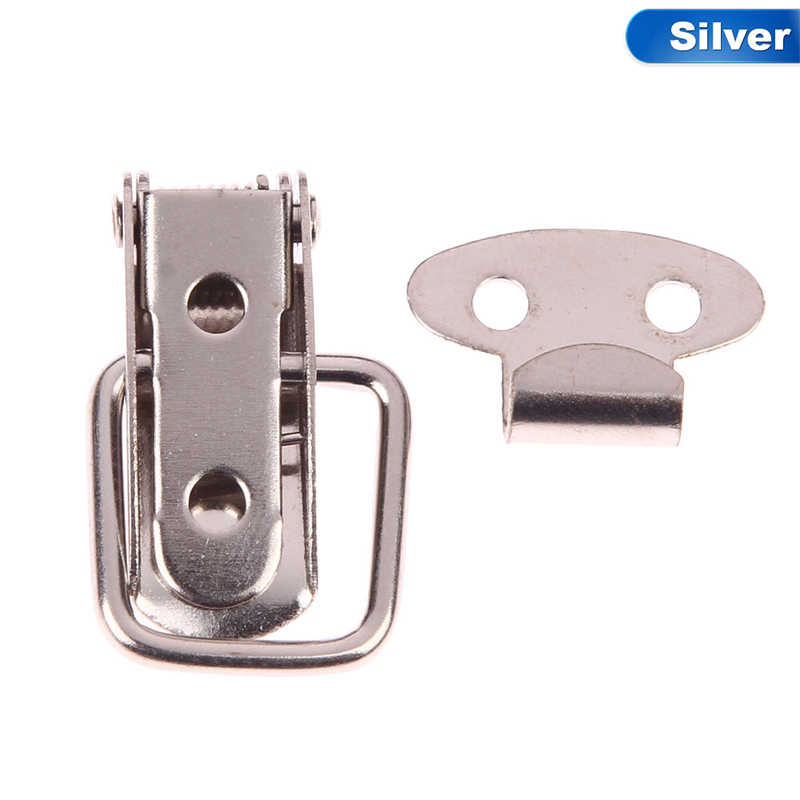 1 Pcs  Hardware Cabinet Boxes Loaded Latch Catch Toggle Hasp Mild Steel Hasp For Sliding Door Simple Window