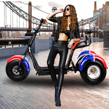 Electric Motorcycle 9.5 Inch Widened Straight Tire 60V12A Double Shock Absorption Safe and Comfortable Three Wheeled Motorcycle
