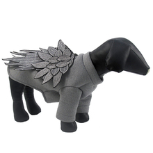 The New Fashion Dog Clothes Warm Puppy Embroidery Feather Wings Pet Jacket Coat Winter Dog Clothes Clothing For Small Dogs S-XXL