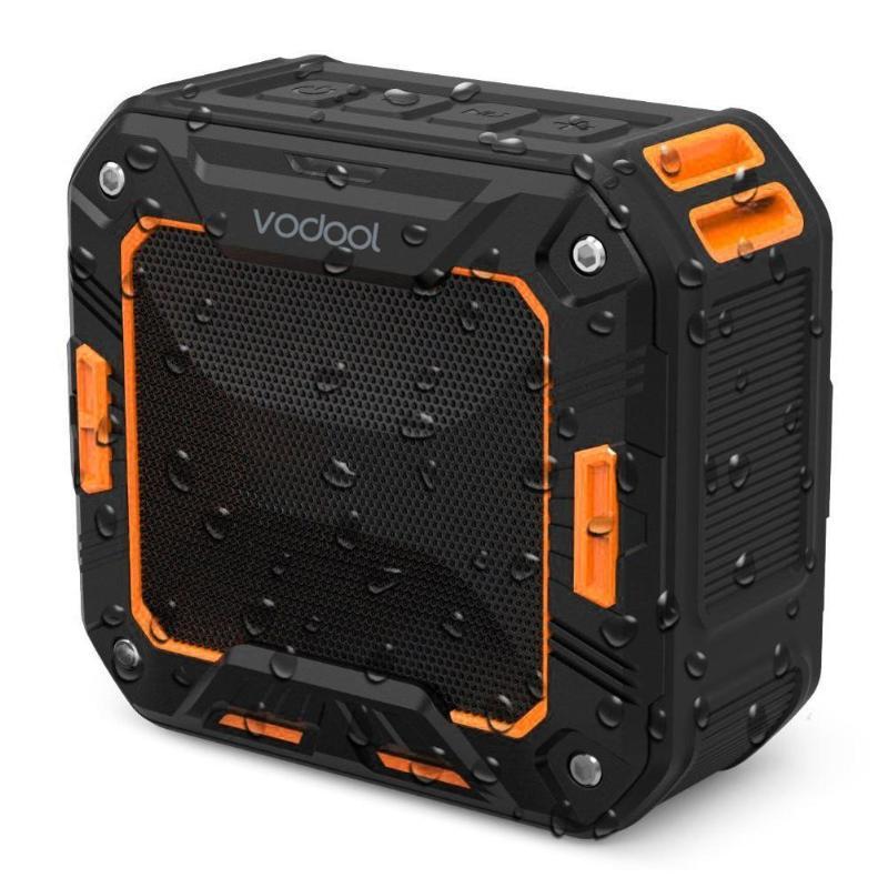 VODOOL Portable Waterproof Shockproof Dustproof Wireless Bluetooth Speaker Mini Heavy Bass Audio Sound Box 3.5mm AUX Speakers